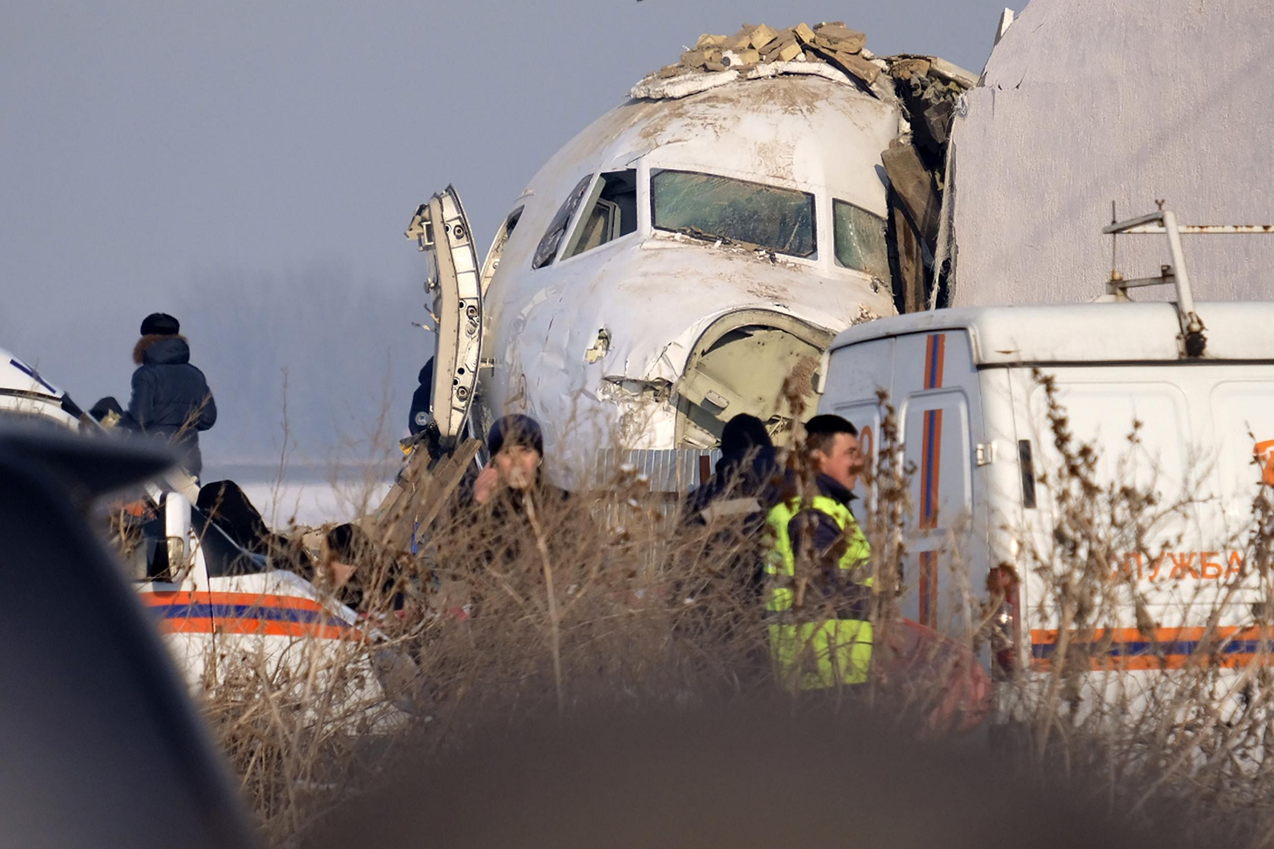 The aircraft had almost 100 passengers and crew onboard when it hit a concrete fence and a two-story building shortly after takeoff.