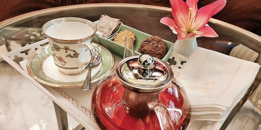 Apple Strudel Tea as served at The Tea Lounge at the Taj Palace in Delhi