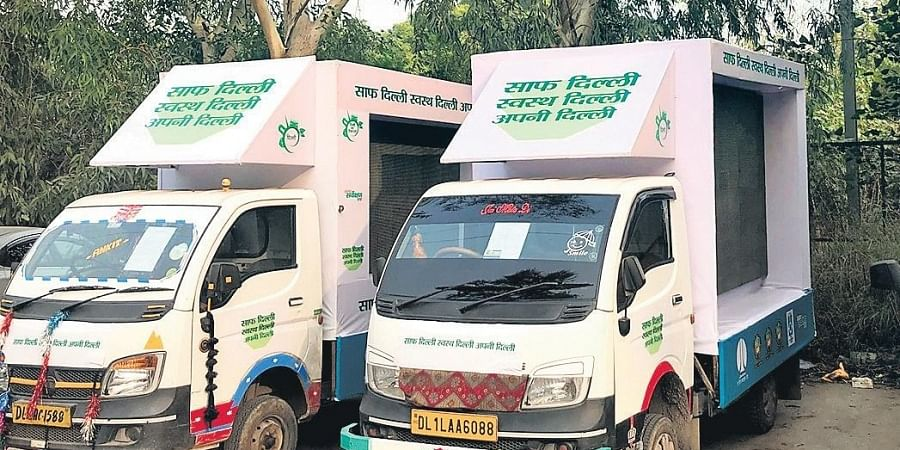 These vehicles will visit all 70 Assembly constituencies in Delhi.
