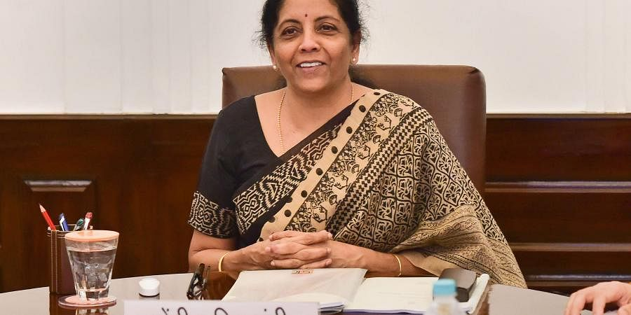 Union Finance Minister Nirmala Sitharaman during the Goods and Service Tax (GST) council meeting in New Delhi.