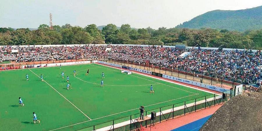 A file photo of hockey match at Biju Patnaik Hockey Stadium in Rourkela | EXPRESS
