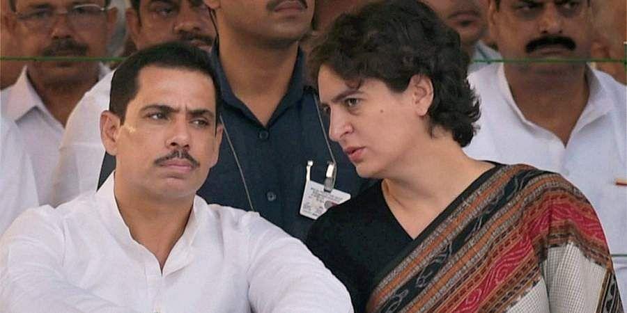 Congress general secretary Priyanka Gandhi with her husband Robert Vadra