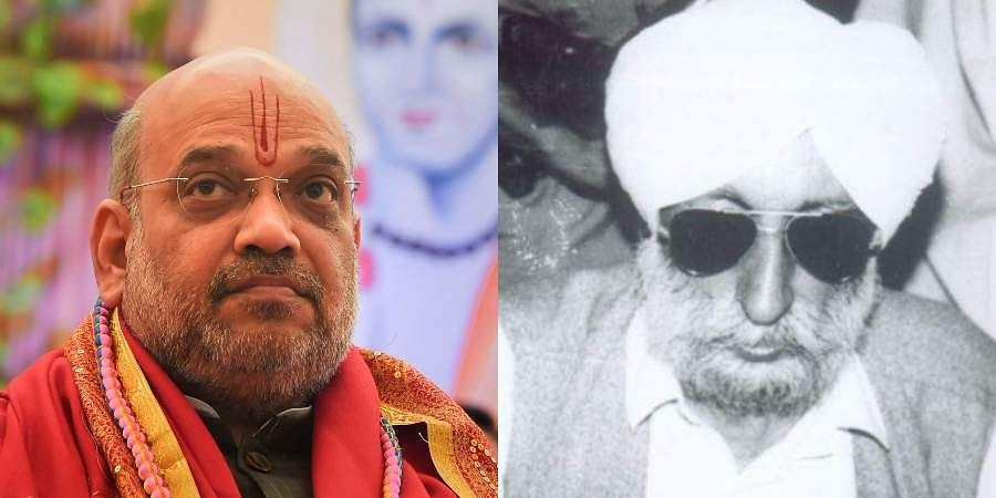 Union Home Minister Amit Shah (L) and former Punjab CM Beant Singh