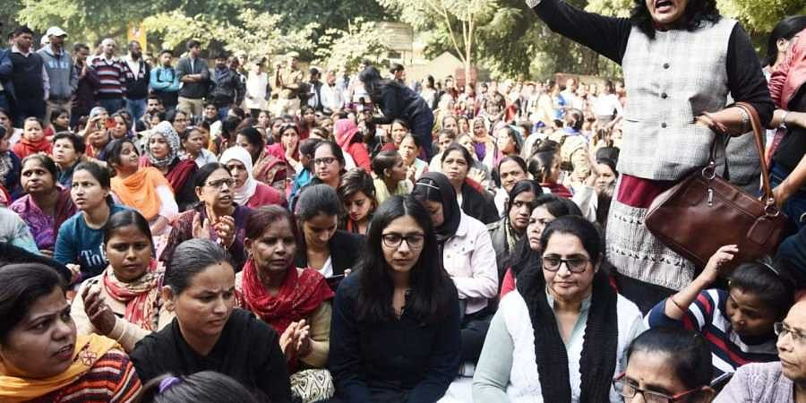 DCW chief Swati Maliwal  sit on an indefinite hunger strike to protest against incidents of rape which have been reported in the last few days from different parts of the country, at New Delhi on Tuesday.