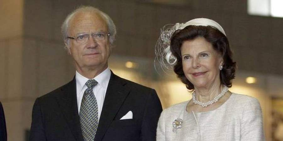 Sweden's King Carl XVI Gustaf and Queen Silvia
