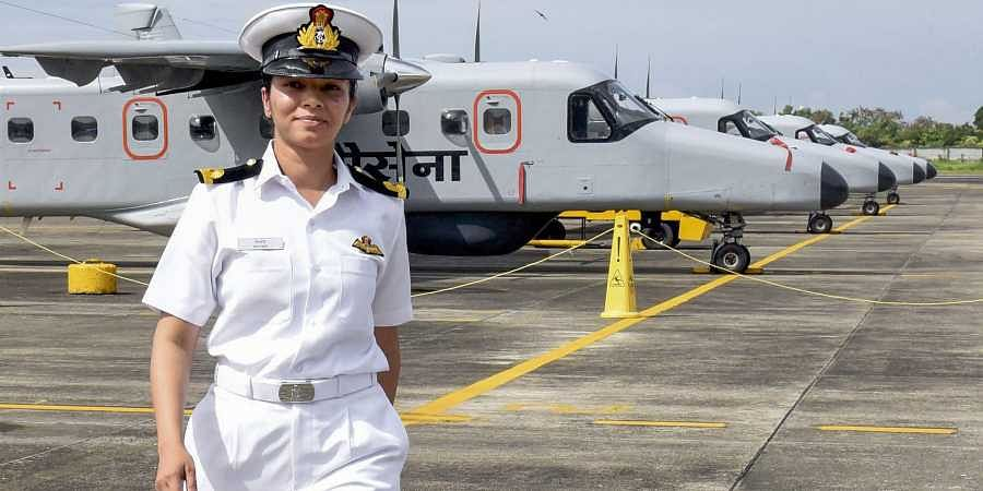 On 2 December 2019, 24-year old sub-Lieutenant Shivangi became the first woman pilot of the Indian Navy. (Photo | PTI)