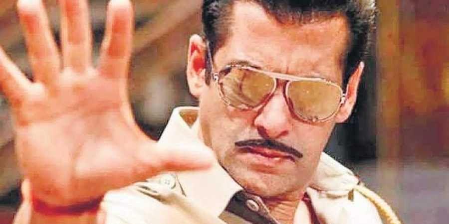 Salman Khan as Chulbul Pandey in Dabangg 3.