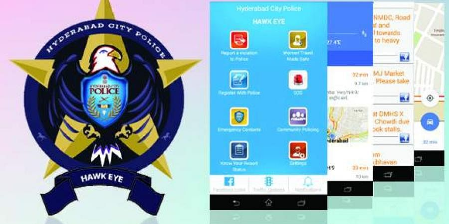 Hyderabad police department's official App, Hawk Eye