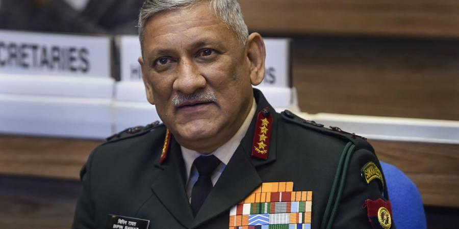 Army chief Gen Bipin Singh Rawat. (File | PTI)