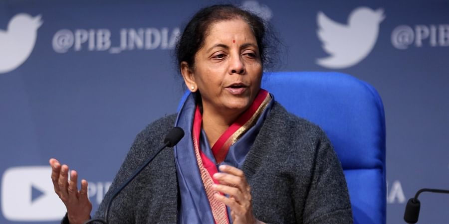Finance Minister Nirmala Sitharaman addresses a press conference regarding the launch of the national infrastructure pipeline in New Delhi on Tuesday Dec. 31 2019. (Photo | Shekhar Yadav/EPS)