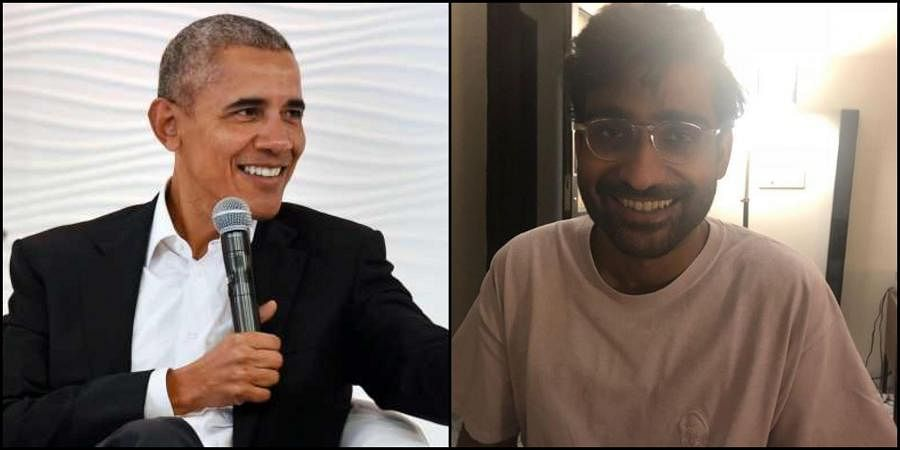 Barack Obama (left) and Prateek Kuhad (right)