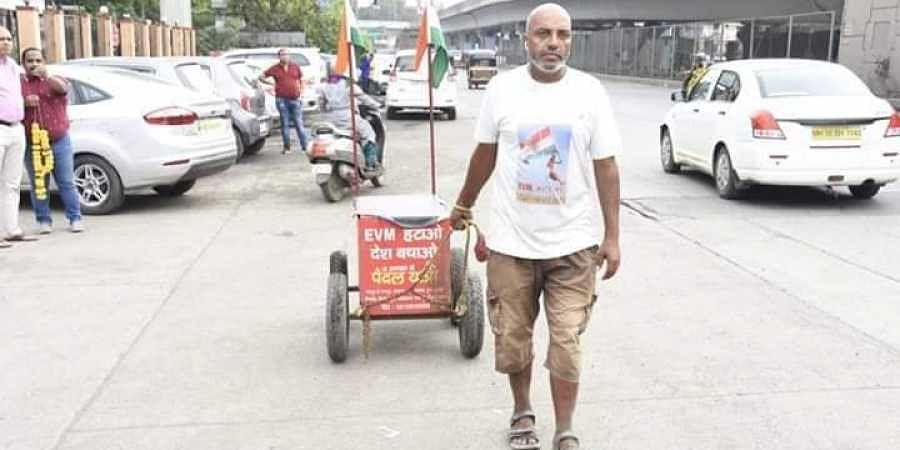 Onkar's slogan is 'Bring Back Ballot' with an urge to discard EVMs for good. (Photo | Facebook)
