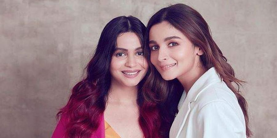 Shaheen  Bhatt with younger sister and Bollywood actress Alia Bhatt