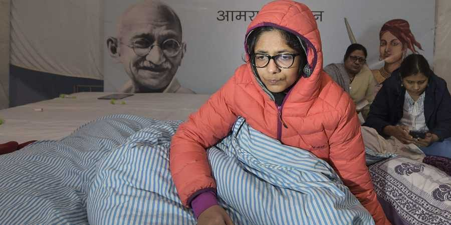 Delhi Commission for Women DCW chairperson Swati Maliwal on the third day of her hunger strike