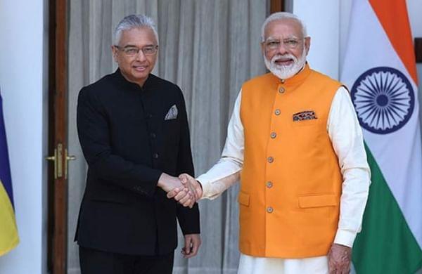 After re-election victory, Mauritius PM Pravind Jugnauth meets Narendra Modi