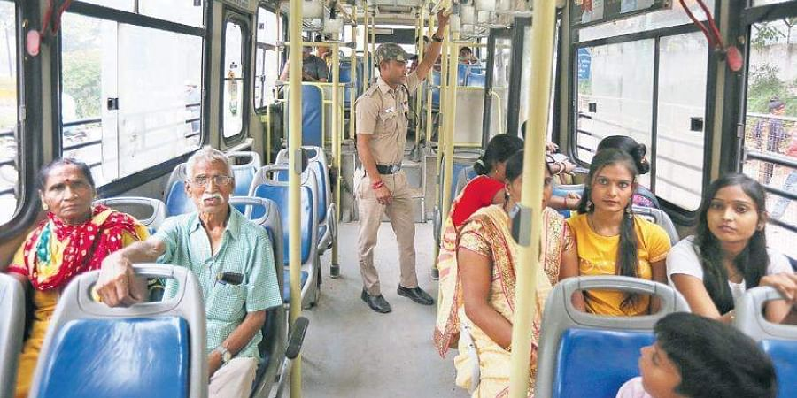 Recently, marshals were appointed on city buses to boost women's safety.