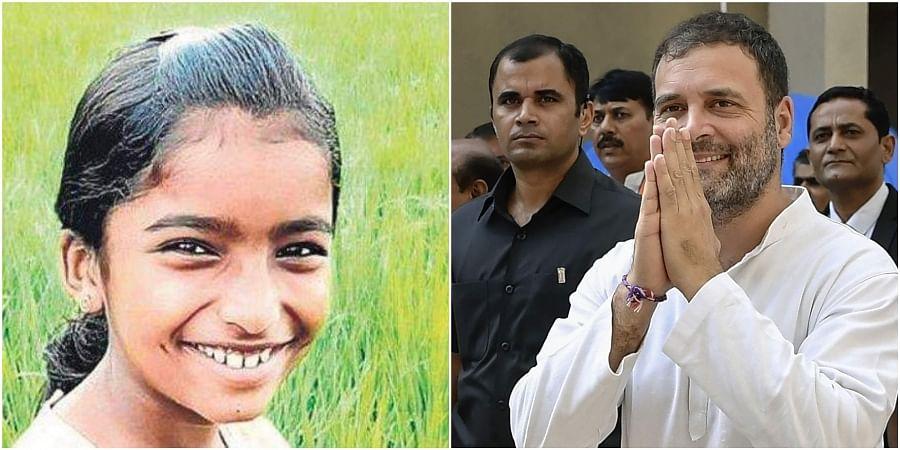 Shehala Sherin (R), Congress leader Rahul Gandhi (L)