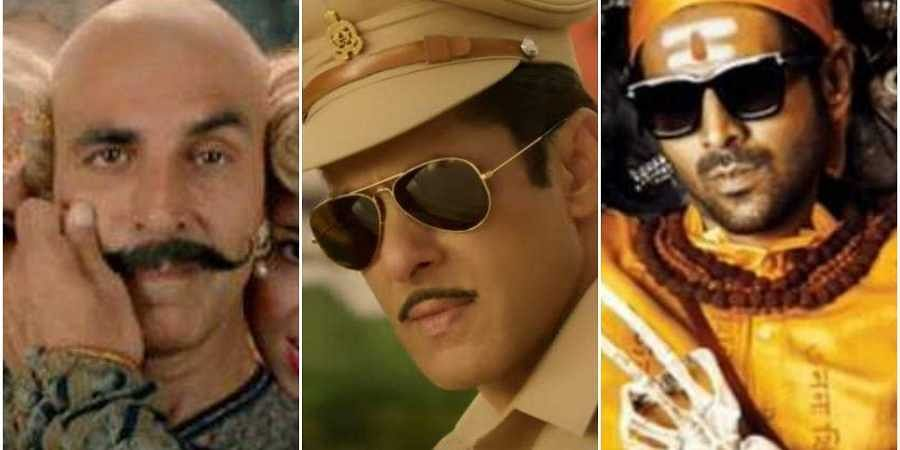 Tills from Housefull 4 (L), Dabangg 3 (C) and Bhool Bhulaiya 2