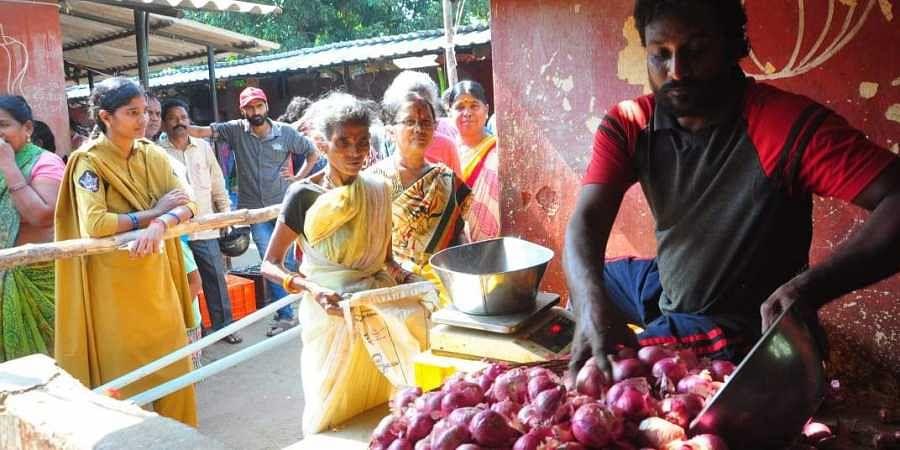 Onions prices keep rising. (Photo | G Satyanarayana)