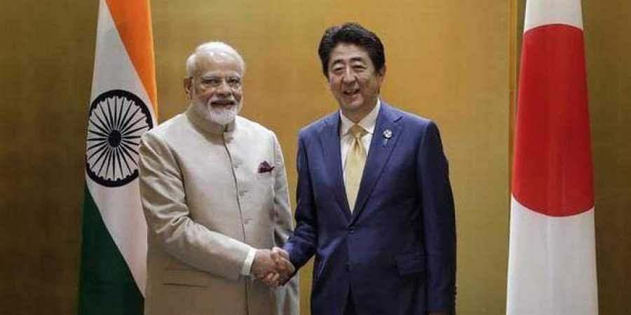 Prime Minister Narendra Modi with Japanese counterpart Shinzo Abe.