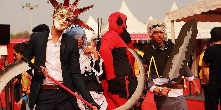Cosplay artist at last year's Delhi Comic Con.