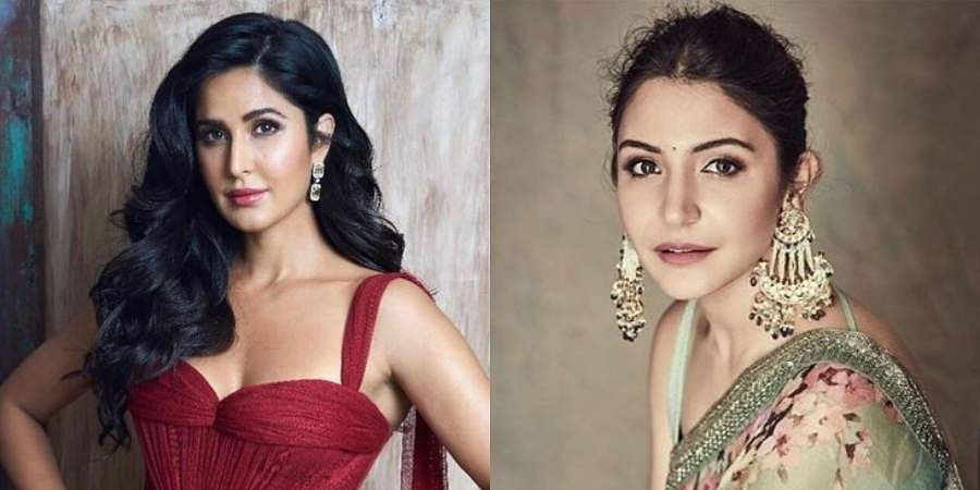 Two of the looks by late makeup artist Subbu on Bollywood actresses Katrina Kaif(L) and Anushka Sharma(R)