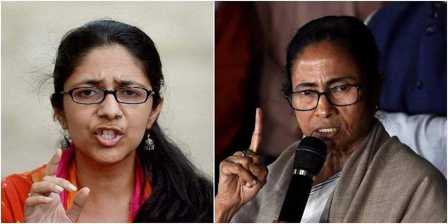DCW chief Swati Maliwal and West Bengal CM Mamata Banerjee