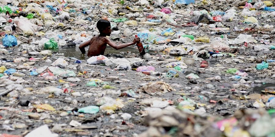 Plastic pollution image for representational purpose only