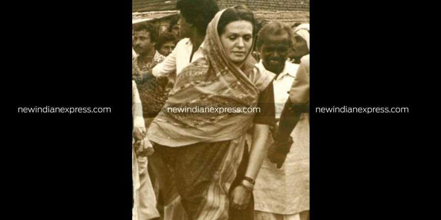 Congress leader Sonia Gandhi during a visit to Tamil Nadu.