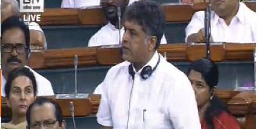 Manish Tewari speaking in the Lok Sabha