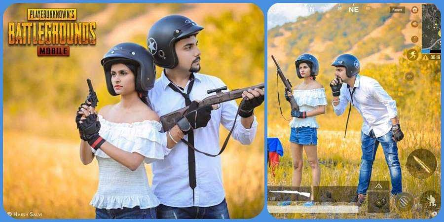The PubG-themed photoshoot has gone viral following the debate over imposing a ban on the game.