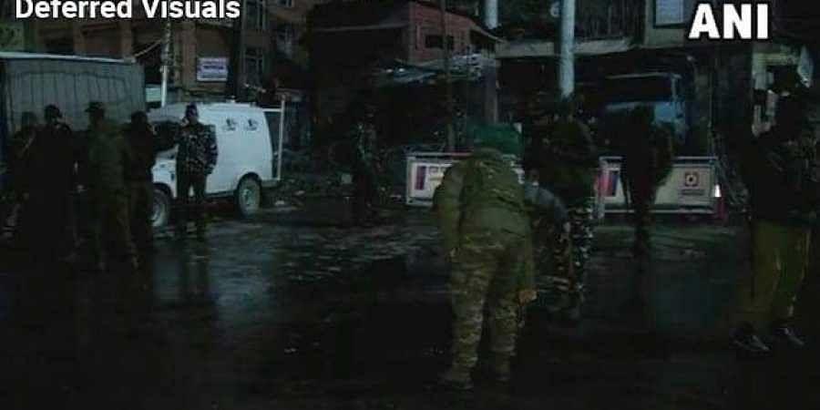 11 Injured In Grenade Attack At Srinagar's Lal Chowk.