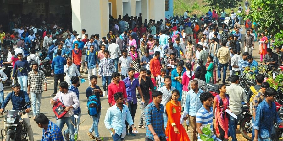 Crowd of students