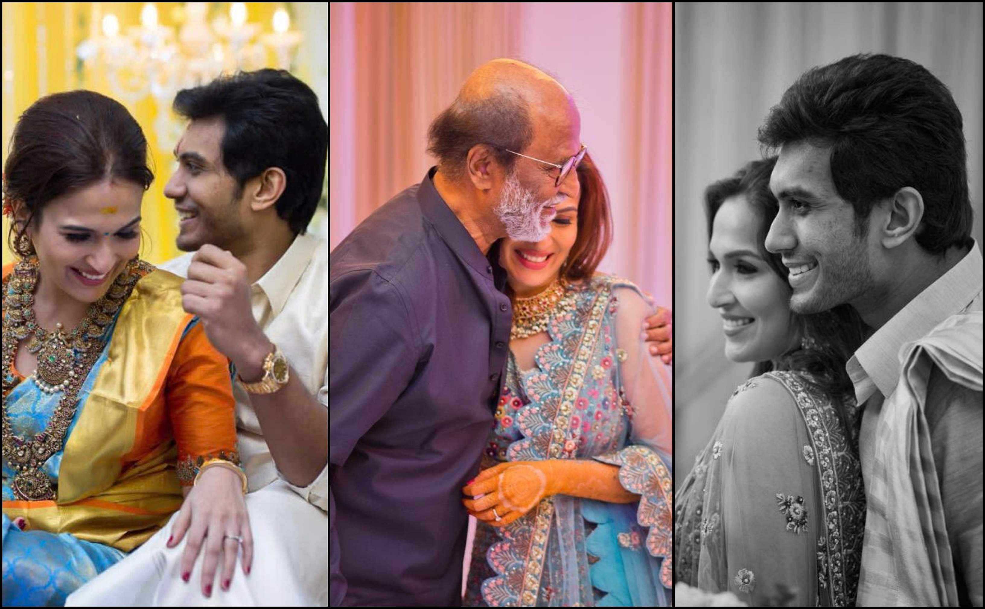 Soundarya Rajinikanth shares candid photos with father, son