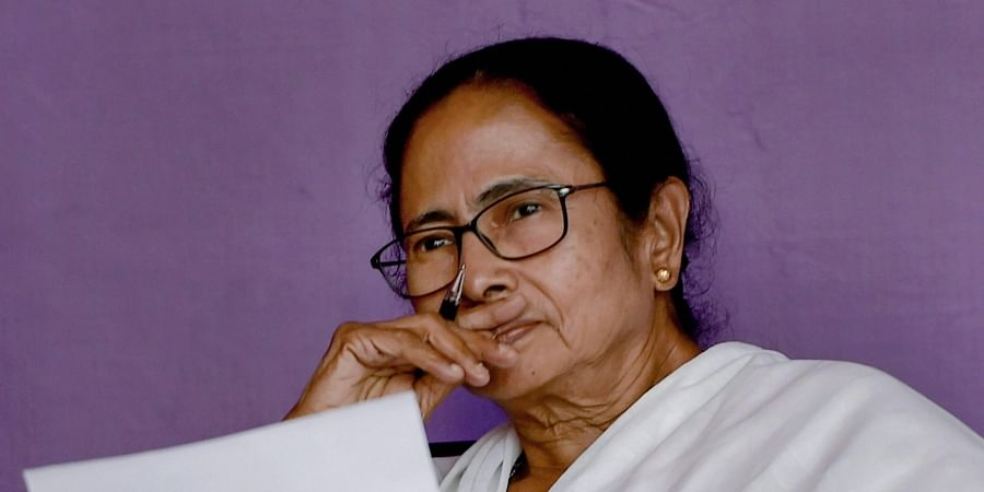 West Bengal CM Mamata Banerjee during her sit-in protest over the CBI's attempt to question the Kolkata Police commissioner in connection with chit fund scams.