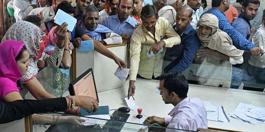 Scene of a bank post-demonetisation
