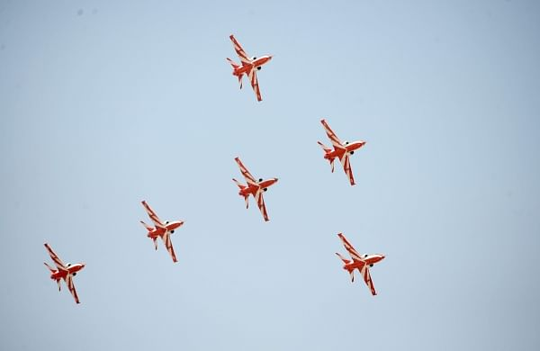 File Image of IAF's Suryakiran team. (Pushkar V|EPS)