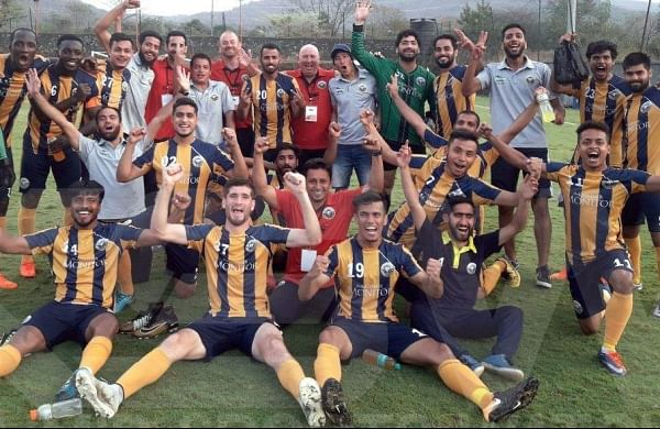 Real Kashmir FC players and staff (File Photo | Twitter / Real Kashmir FC)