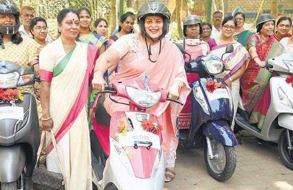 Jayamala, Minister for Women and Child Development and Empowerment of Differently Abled and Senior Citizens launched various schemes for  the empowerment of women in the State | nagaraja gadekal