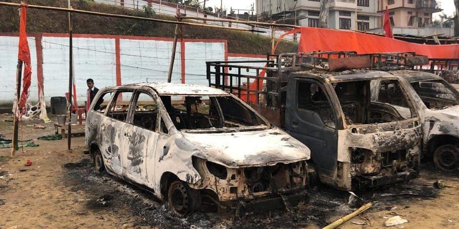 Arunachal Pradesh cars torched