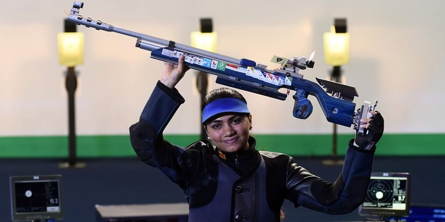 Apurvi Chandela after her world record in women's 10m air rifle.