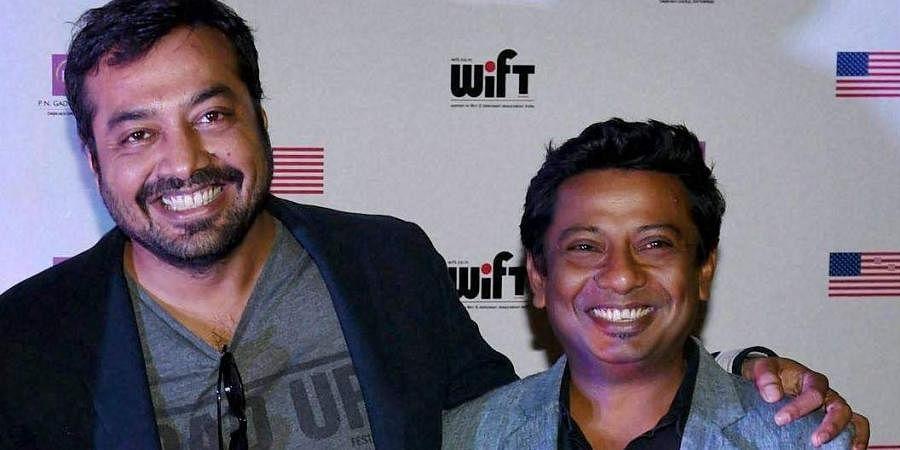 National Award-winning filmmaker Onir (R) with Anurag Kashyap
