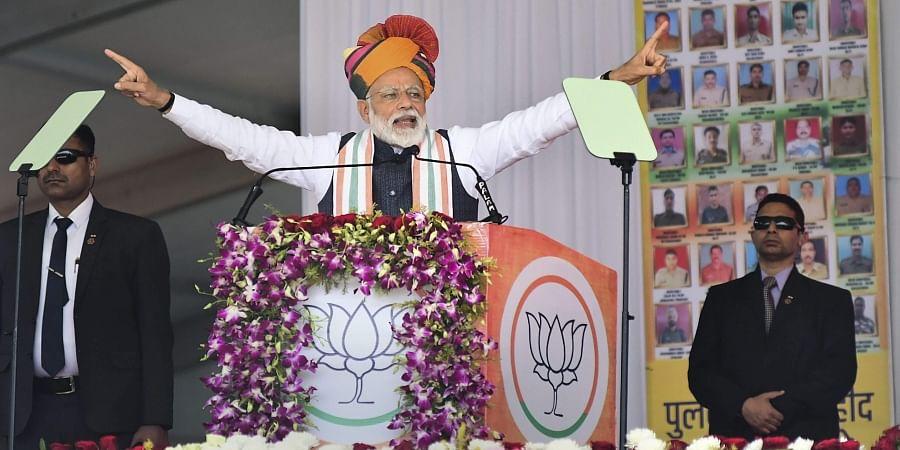 Narendra Modi  in Rajasthan