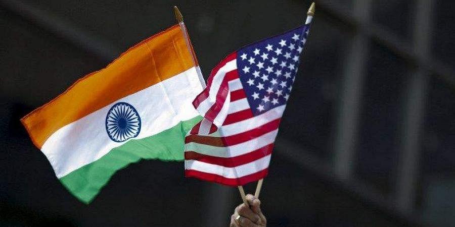 India USA flags