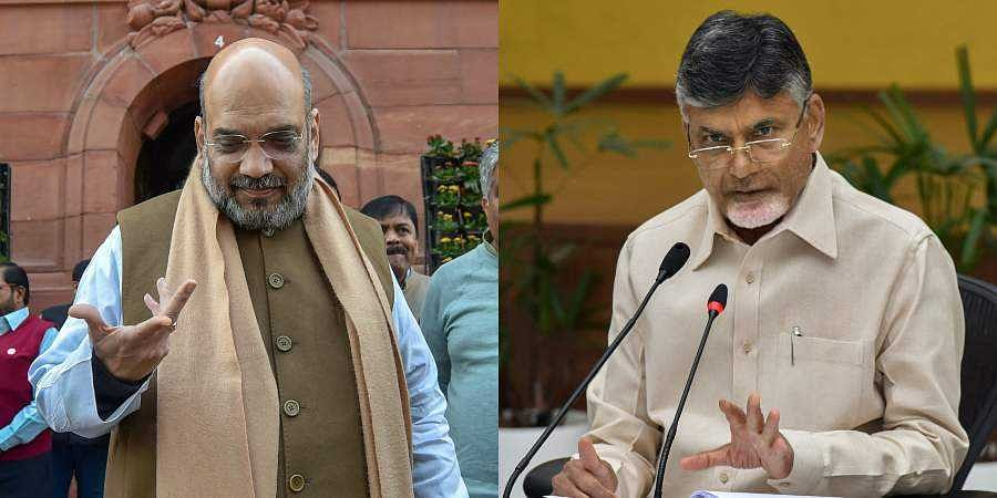 BJP chief Amit Shah and Andhra Pradesh CM Chandrababu Naidu