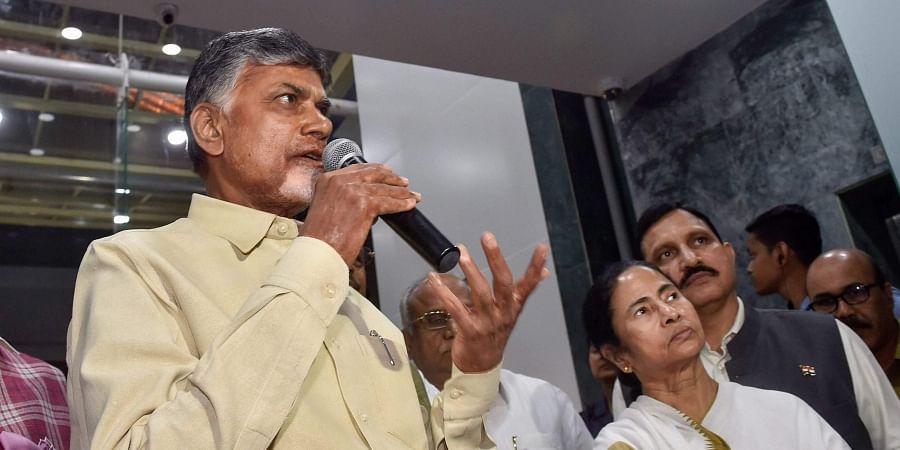 Andhra Pradesh CM Chandrababu Naidu and West Bengal CM Mamata Banerjee
