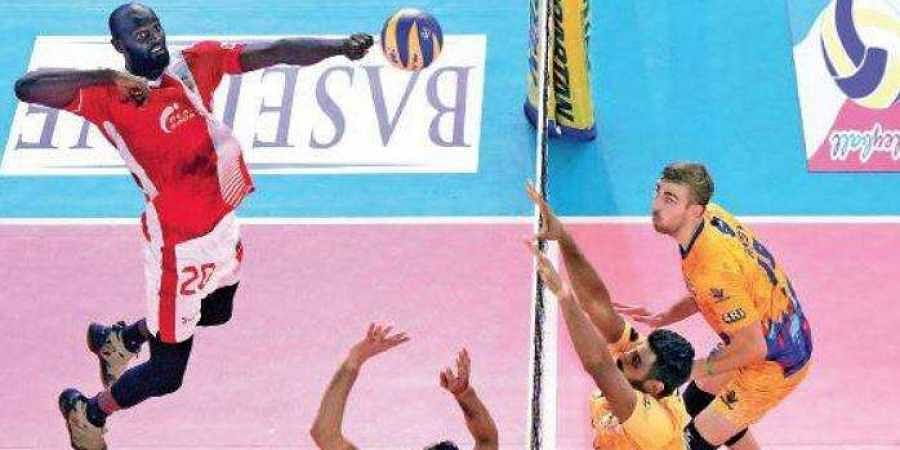 Action from the match between Calicut Heroes and Chennai Spartans in the Pro Volleyball League at Rajiv Gandhi Indoor Stadium in Kochi on Sunday. Calicut heroes won 4-1 set.