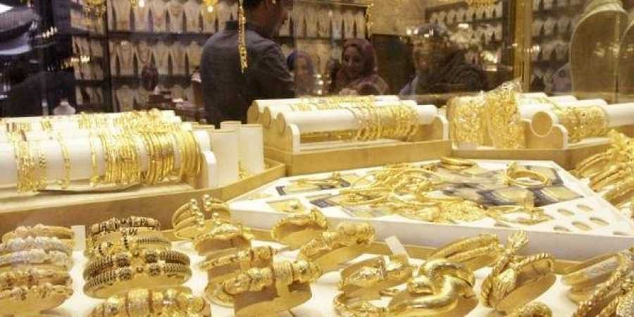 Gold jewellery is seen displayed for sale at a shop in a gold market in Basra, southeast of Baghdad. | REUTERS