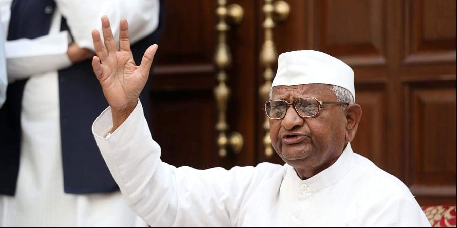 Anti-corruption crusader Anna Hazare
