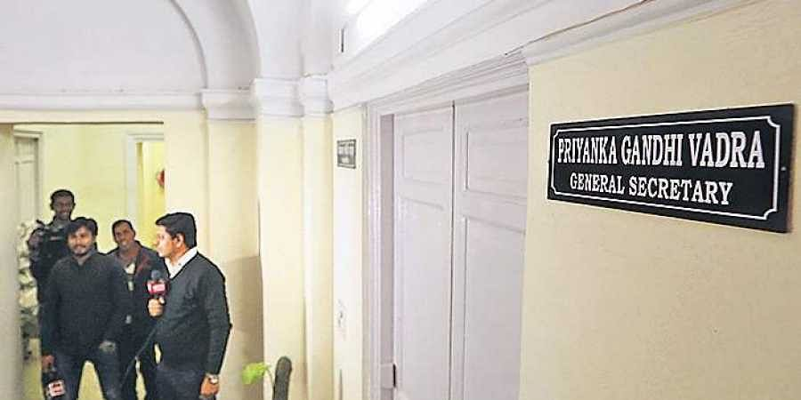 Priyanka Gandhi Vadra's nameplate was installed at AICC office in New Delhi on Tuesday.